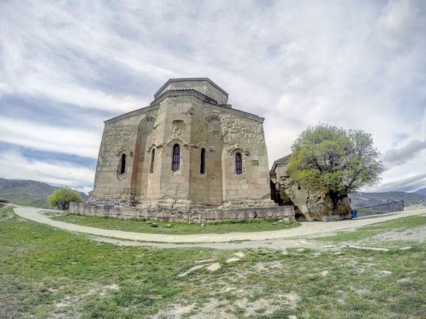 Architecture Architecture ASIA Beautiful Built Structure Caucasus Cloud - Sky Day Fisheye FishEyeEm Georgia Gopro Goprohero4 Jvari Jvari Monastery Landscape Mccheta Monastery Monastery Of Stone No People Orthodox Church Sky Spring Tbilisi Tree
