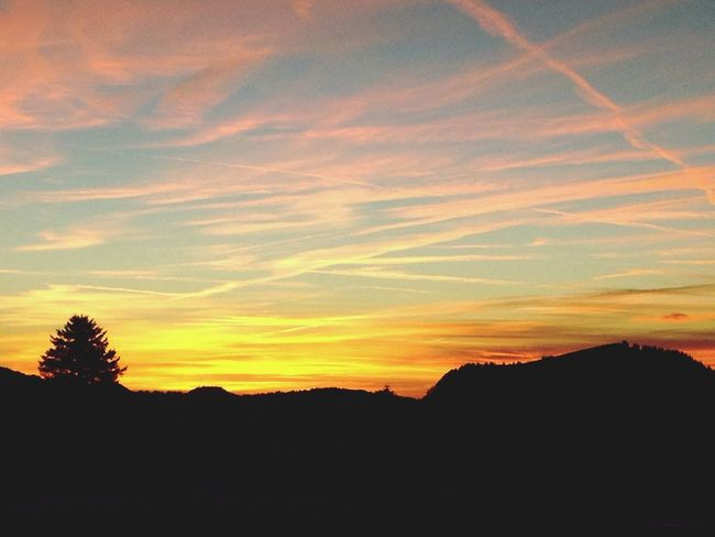 Sunset Evening Sky Nature Collection Sky