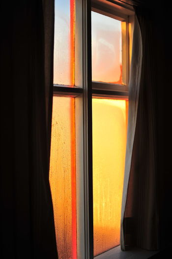 Close-up of orange window
