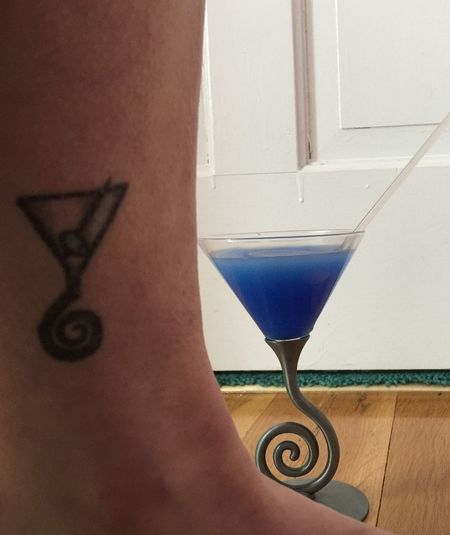 Two Is Better Than One Tattoo Martini Tattoo Blue Martini Martini Blue Rebel Rebel Martini Glass Cocktail Girls With Tattoos Cocktail Tattoo Drinks Drinking Leg Glass Drink Happy Hour Tattoos Tattooed Tattooed Girl Alcohol From My Point Of View Perspective Cocktails Blue Cocktail