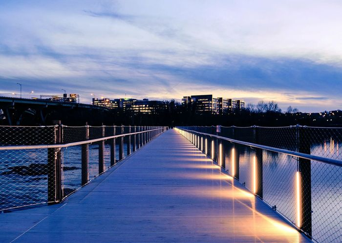 Sky Cloud - Sky Outdoors No People Nature Water Sunset Beauty In Nature Day Bridge - Man Made Structure Richmond, VA Nikon D3300 Monday Blues Beauty In Nature Architecture Nikonphotography Sunsetporn Sunset_collection City Reflection Illuminated Travel
