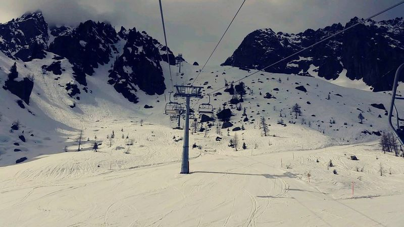 Nature Sky Landscape Outdoors Beauty In Nature Ski Lift Mountain No People Day Neige❄ Martigny
