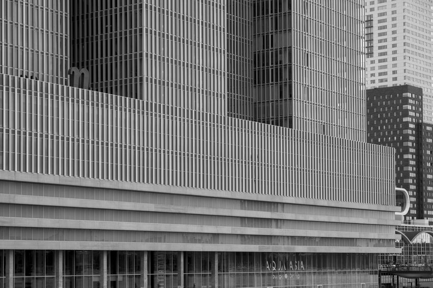 nhow Rotterdam - Rem Koolhaas Archineos Architecture B&n Bianco E Nero Black And White Building Exterior Built Structure City Closed Skyline De Rotterdam  Modern Monochrome Nhow Rotterdam No People Rem Koolhaas Rotterdam Skyscraper Ugo Villani Urban Skyline