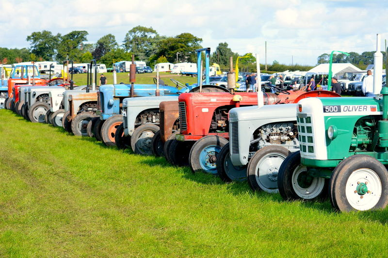Trawden 2017 Agricultural Show Country Show Day Field Grass Green Color Land Vehicle No People Outdoors Sky Tire Tractors Transportation Wheel