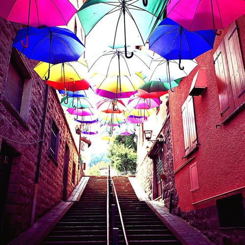 Ombrelli al sole. Italy Italia The Way Forward Direction Architecture Multi Colored No People Diminishing Perspective Day Built Structure Umbrella Decoration