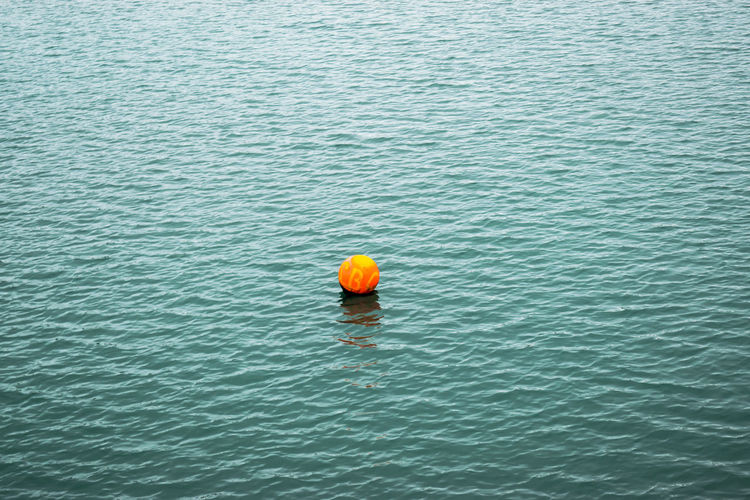 Beauty In Nature Blue Buoy Buoy On The Water Day Depth Of Field Dublin, Ireland Floating On Water Howth Harbour Dublin Lake Landscape_Collection Nature No People Oceanphotography Orange Color Outdoors Peaceful Reflection_collection Tranquil Scene Tranquility Water