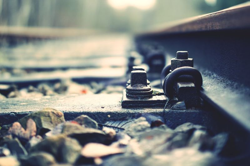 Near Shot Way Trainstation Train Railway Rail Bokeh Trail EyeEm Selects Selective Focus No People Close-up Day Outdoors EyeEmNewHere