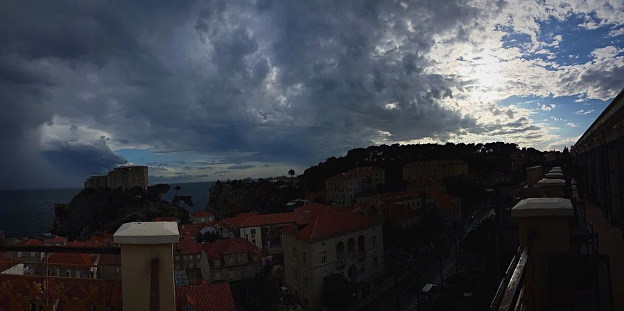 Dubrovnik Architecture Cloud - Sky Built Structure Sky Building Exterior Outdoors No People Residential Building Day Storm Cloud Town Nature City Beauty In Nature