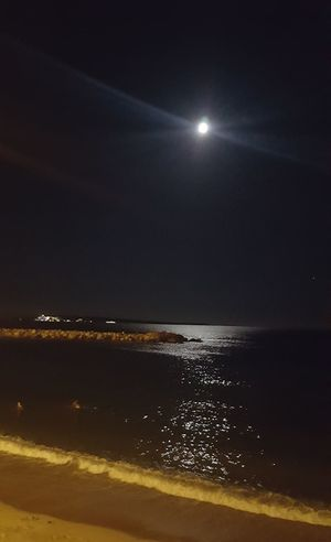 Night Moon No People Sky Nature Sea Water IlluminatedBeauty Cannes, France Astronomy Beauty In Nature Outdoors Refraction Horizon Over Water Summer Vacations Beach Star - Space Space Astrology Sign Close-up