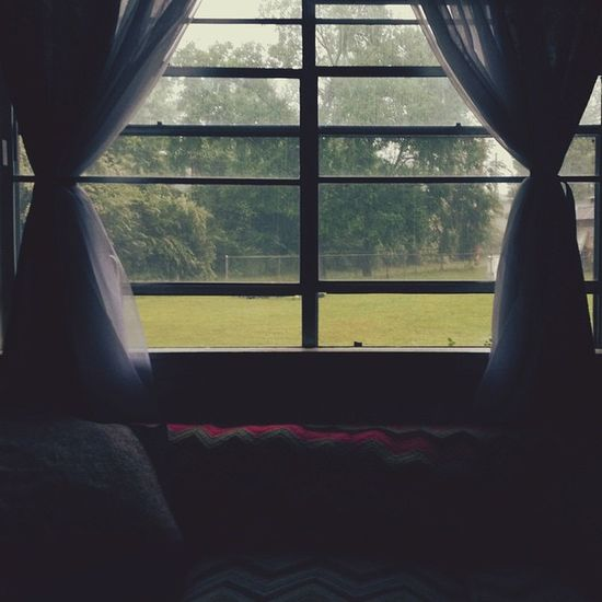 Rainy Days Rainy Day Window Window View Green Curtains Apartment Apartment View RENT Rental Apartment Living