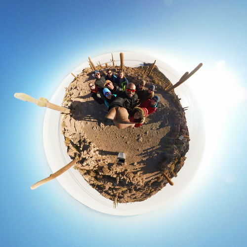 EyeEm Selects Fish-eye Lens Planet Earth People Day Outdoors Sky Tall - High