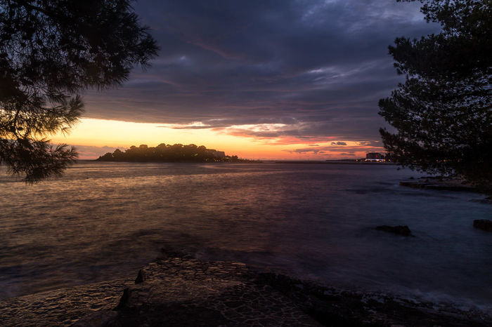 Croatian dusk... Coastline Coastline Landscape Holiday Porec, Croatia Poreč Coast Travel Travel Photography Vacations Beauty In Nature Cloud - Sky Croatian Landscape Croatian Sunset Island Long Exposure Nature Porec Scenics Sky Sunset Sunsets Tranquil Scene Tranquility Tree Visitcroatia Water
