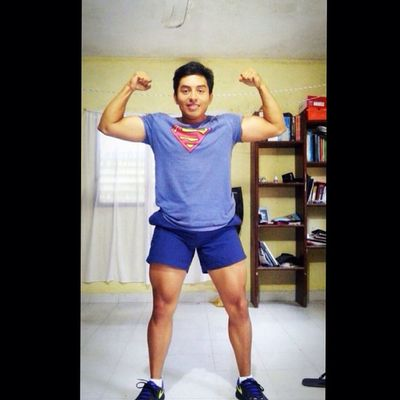 Superman Muscle Body FitnessForm StrongLegs Arm Force Power GymWork Working