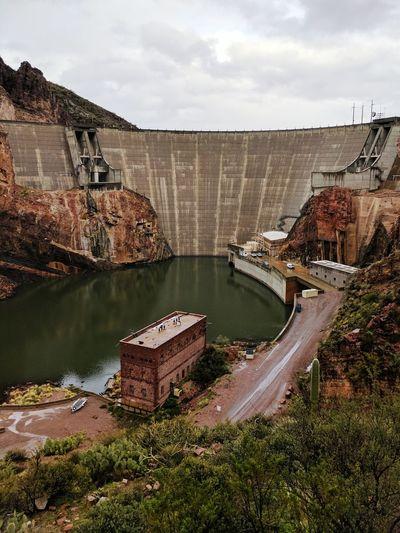 Water Industry Outdoors Sky Day Roosevelt Dam Arizona apache trail Lake Roosevelt