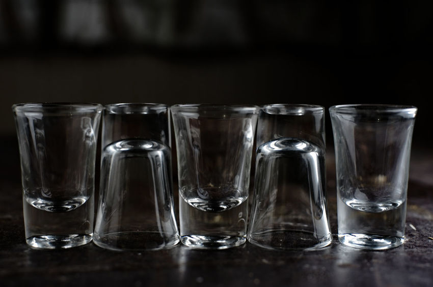 Alcohol Black Background Choice Close-up Crockery Crystal crystal clear Drink Drinking Drinking Glass Glass Glass - Material Group Of Objects Household Equipment In A Row Indoors  No People Order Refreshment Shot Glass Still Life Studio Shot Tequila Shots Transparent Vodka