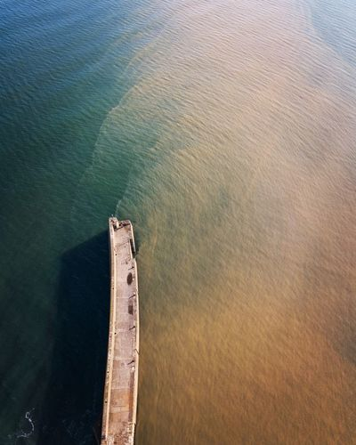 St Andrew's pier from above Water Sea Nautical Vessel Aerial View High Angle View Sunlight Architecture First Eyeem Photo