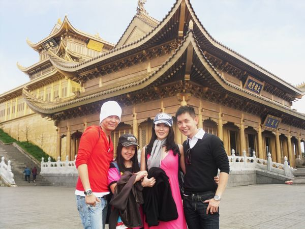 With friends at Mt Ermei Mount Emei China Fond Memories Trip Photo