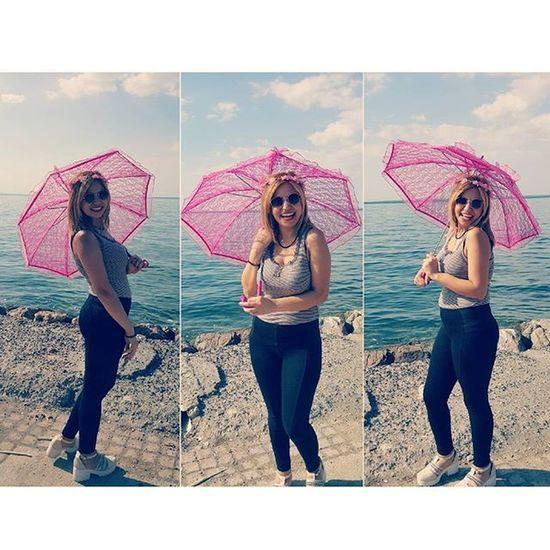 💞💞💕💕💓💓👒🌂🌂🌞🌼🌻 Beauty Tagsforlikes Amazing Sea beach summer sun pink