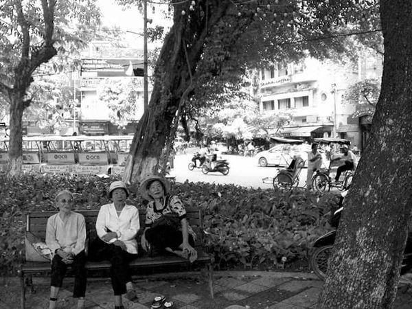 Planning for tomorrow - Hanoi Vietnam  Vietnam Travel Photography Streetphotography Friendship Womens