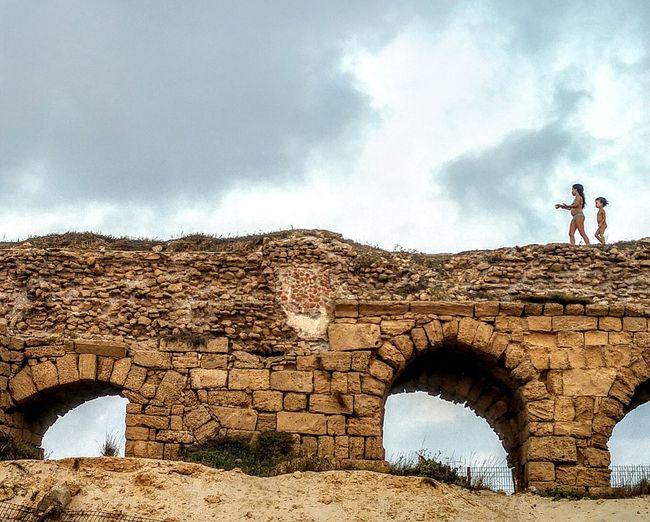 Two Kids Sky Bridge Aqueduct