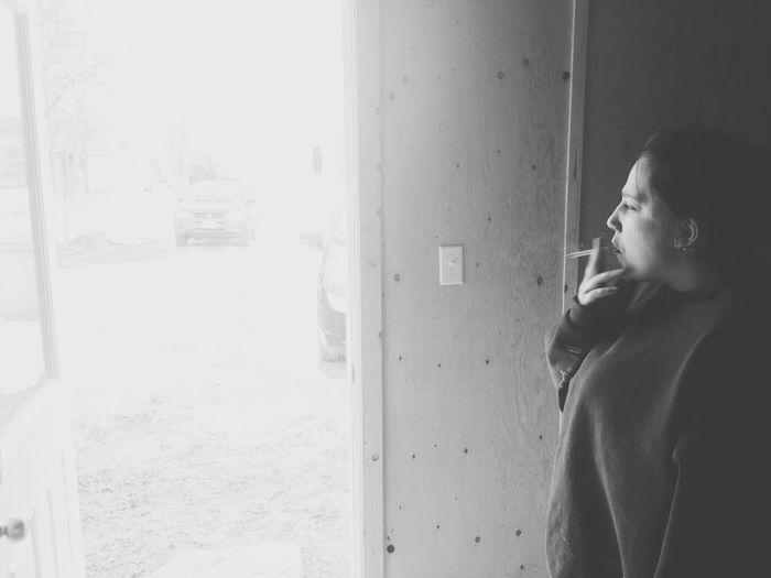 Smoking Cold Days Blackandwhite Natural Beauty