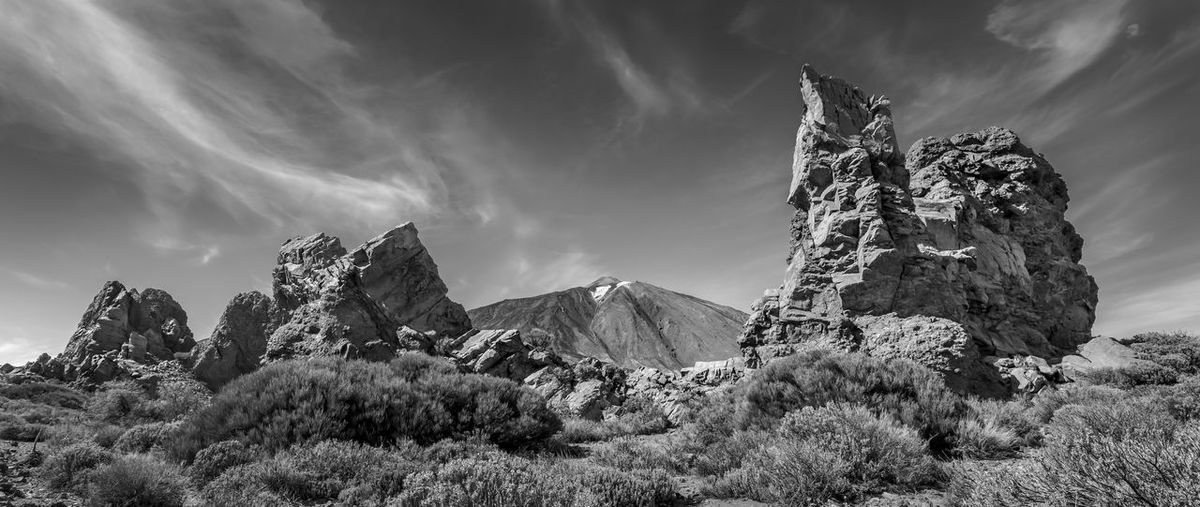 Teide Nationalpark. Like often, i can't say what i like more: color or black an white. Black & White Teide National Park Beauty In Nature Black And White Blackandwhite Cloud - Sky Geology Monochrome Mountain Mountain Peak Mountain Range Nature No People Non-urban Scene Plant Rock Rock - Object Rock Formation Scenics - Nature Solid Teide Tenerife Tranquil Scene Tranquility The Great Outdoors - 2018 EyeEm Awards