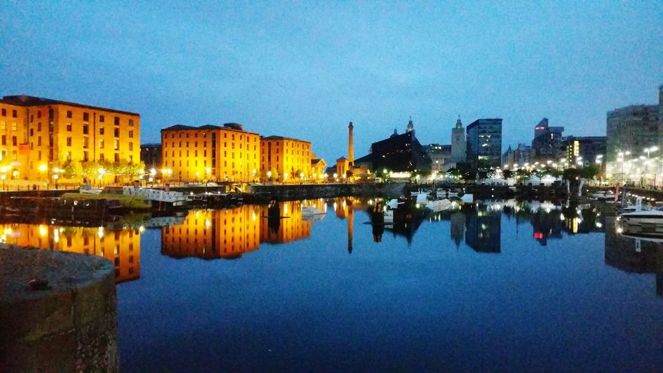 Liverpool Albert Docks Merseyside Early Morning Water Reflections Waterfront Built Structure Reflection Building Exterior City Docks Dockside Water