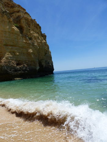 Beach Beauty In Nature Day Horizon Over Water Idyllic Nature No People Outdoors Sand Scenics Sea Sky Tranquil Scene Tranquility Water Wave Algarve, Portugal Praia De Carvoeiro Carvoeiro