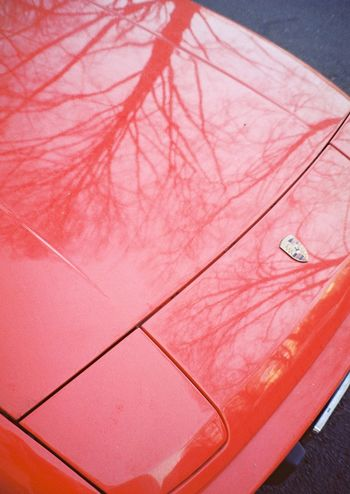 🚗💕 Carporn 35mm Streetphotography Analogue Photography Filmisnotdead Berlin Reflection Red Dreamcar