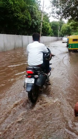 Indian Roads Roads Flooded Water Logged