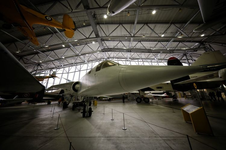 Duxford Imperial War Museum Aerospace Industry Air Force Air Vehicle Airplane Airplane Hangar Built Structure Cocncorde Day DUXFORD AIR MUSEUM Duxford Imperial War Museum Indoors  No People Stealth