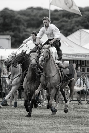 'The Devil's Horsemen' in action Black And White Photography Country Show Exhibition Horse Photography  Horse Riding Horses Horses In Action Stunt Rider
