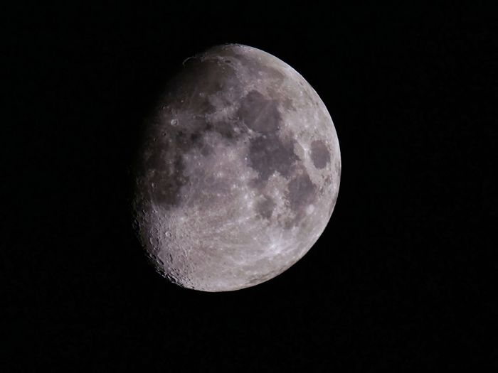 Moon now🌔 Simple Quiet Love Japan Astronomy Space LEICA DG VARIO-ELMAR 100-400 Lumix G9 Beauty In Nature Nature Outdoors Moon The Great Outdoors - 2018 EyeEm Awards Night Astronomy Space Sky Moon Surface