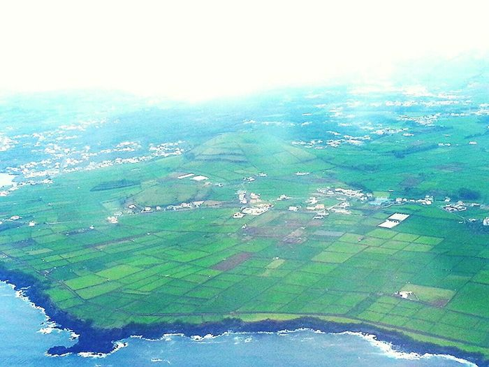 From An Airplane Window Azores Islands Terceira Aerial Photography