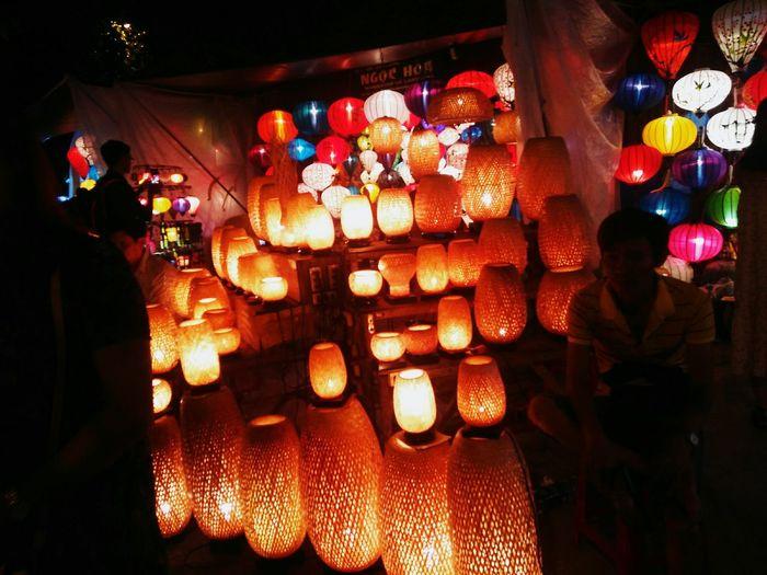 #Highlight #Night #AncientTown #Danang #Vietnam #Tookbyme #Lampsocket #Asia Danang Lamps And Lights. Ancienttown Hightlight Vietnam Indoors  Illuminated Lantern Night No People