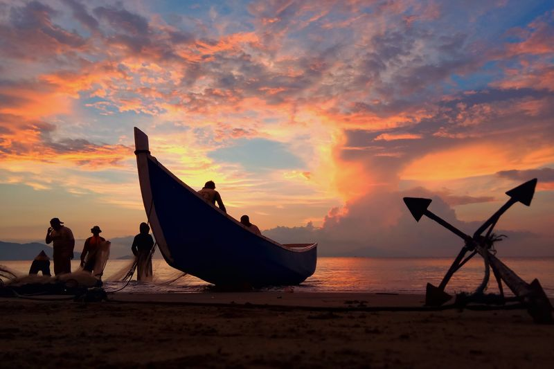 Photography Aceh Culture Aceh INDONESIA Fish Oil Pump Nautical Vessel Sea Wave Sunset Water Beach Silhouette Sky Cloud - Sky Container Ship Ship Fisherman Fishing Fishing Tackle Industrial Ship Fishing Rod Commercial Fishing Net Fishing Pole Freight Transportation Cargo Container