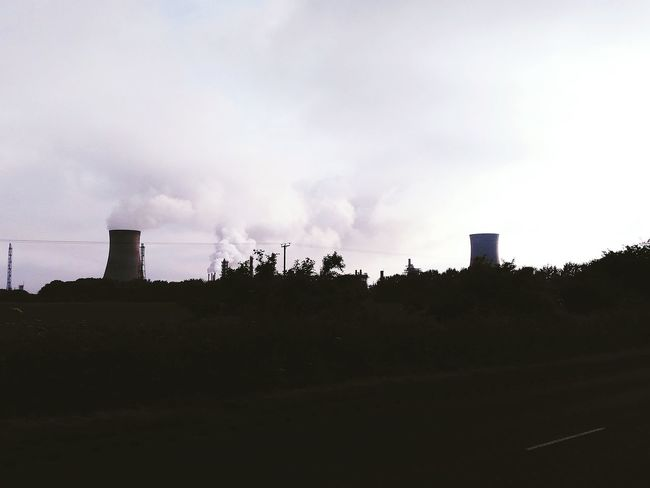 Power Plant Smoke Steam Power Sky Polution Fresh On Eyeem