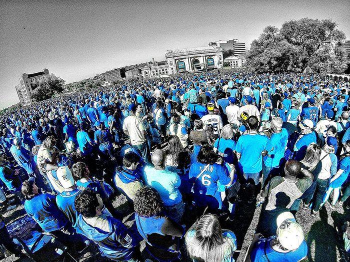 Sea of Blue, Kansas City Royals World Series Celebration! Here Belongs To Me Kansas City Blue Color Splash Selective Color Hometown Sports Parade Crowd Goprohero3 Royal Blue  Crown Royal Unionstationkc Crown Town Blue Wave