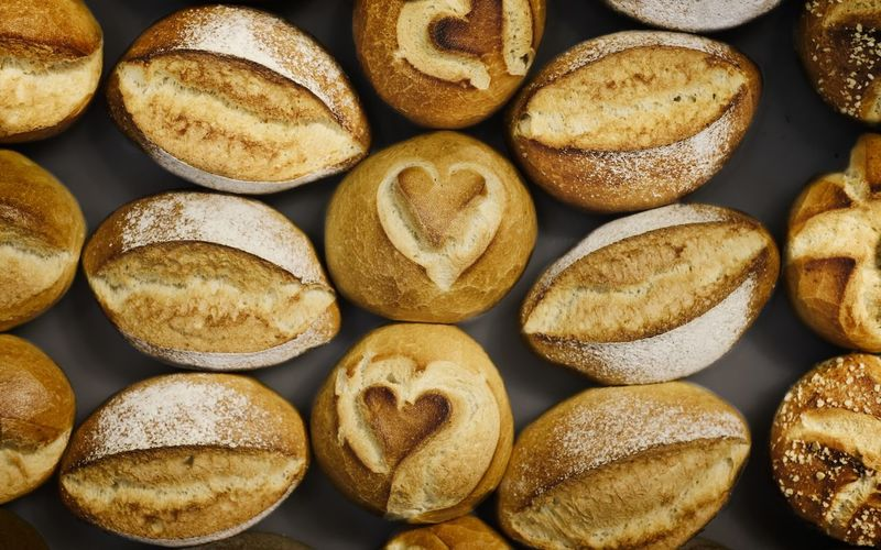 Huge choice of delicious fresh bread rolls.