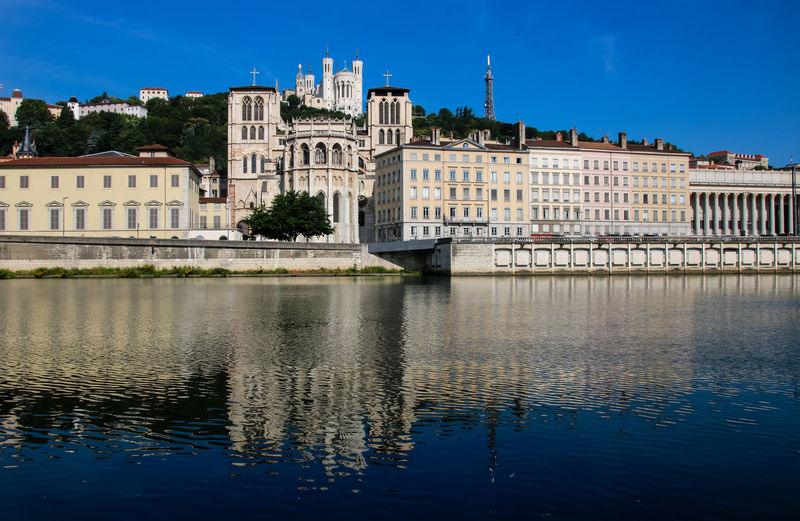 City City Life Fourvière  Saone Architecture Blue Building Building Exterior Built Structure City Day History Nature No People Outdoors Reflection River Saint-jean Sky The Past Travel Travel Destinations Water Waterfront