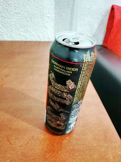 ACDC Beer Beertime Relax Can Alcohol Drink Aluminum Party - Social Event High Angle View Metal Beer - Alcohol Drink Can Close-up