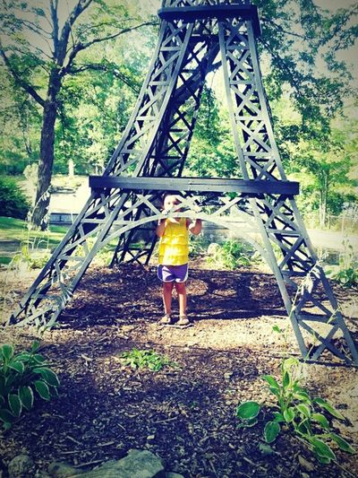 Full Length One Person Built Structure Childhood Leisure Activity Outdoors Real People Nature Day Architecture Playground Paint The Town Yellow
