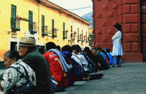 Ayacucho  Real People Real Life Comunity Andes Streetphotography Women Around The World Women Who Inspire You Relaxing Moments Waiting Diagonal Lines Newcolor Peru