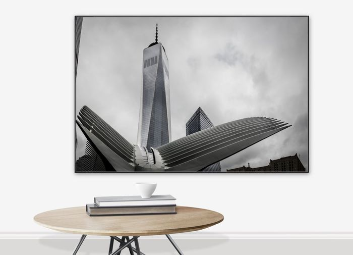 This is one of my photos of the Oculus in New York City on display. Modern Architecture Oculus Oculus NY Oculus Train Station Architecture Book Chair Computer Day Indoors  Modern Modern Art No People Oculus #bw #bnw #bnw_captures #bnw_society #bnwarchitecture #bnw_life #bnwnyc #bnwphotography #nyc #newyorkcity #lowermanhattan #4wtc #1wtc #freedom #9/11 #america #urbanex #urban #abc7eyewitness #calatrava #america #calatrava #bnw_globe #bnw_life Oculusrift Table Technology Wireless Technology