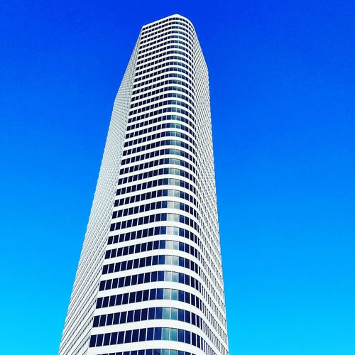 Houston Texas Low Angle View Architecture Clear Sky City Blue Skyscraper Building Exterior Tower Outdoors Built Structure No People Day