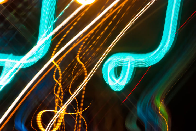 Abstract Architecture Close-up Communication Connection Electricity  Illuminated Light Trail Long Exposure Low Angle View Multi Colored Neon Night No People Outdoors Speed Technology