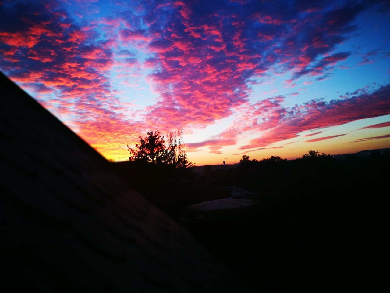 sunset, sky, silhouette, no people, tree, nature, beauty in nature, cloud - sky, scenics, outdoors, architecture, day