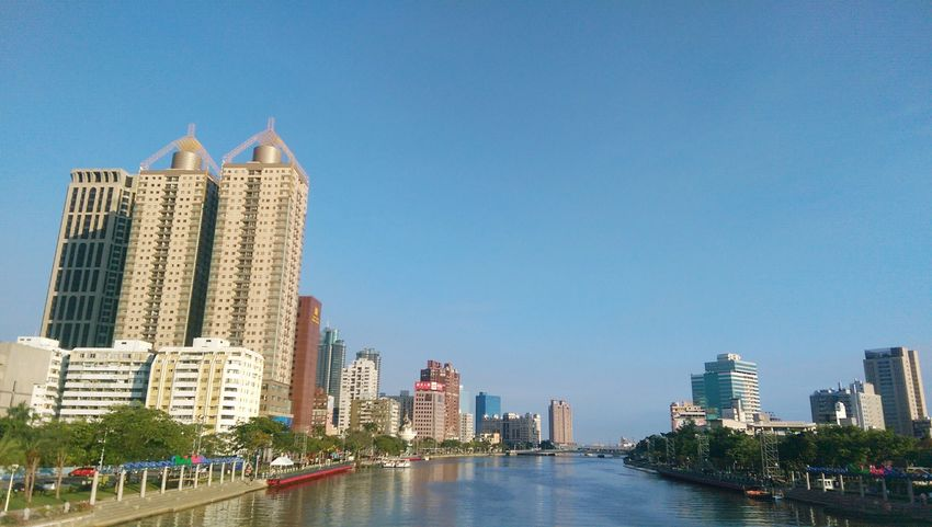 Urban Skyline Sky Outdoors Sunday Afteroon With My Love ❤ OpenEdit Kaohsiung, Taiwan 2017 Eyeem Awards Relaxing Hello World Love River Sunny Day 🌞