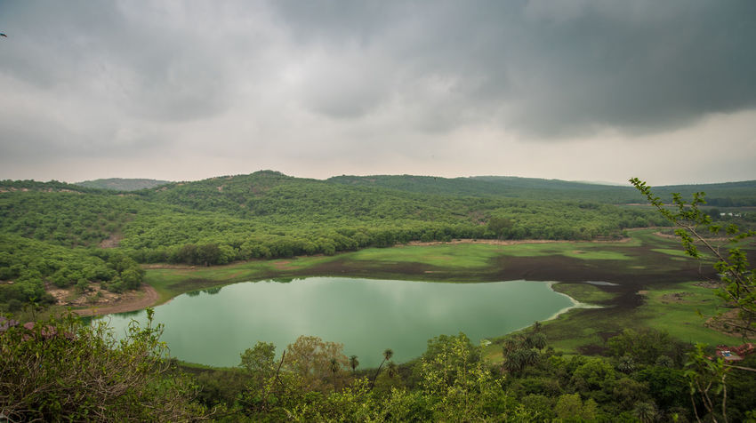 View from the Fort Cloudy Day Hiking Nature Photography Ranthambore National Park Beauty In Nature Before The Rain Environment Lake In Vall Landscape Lush Green Mountains Outdoors Rajasthan Ranthambore Tranquil Scene Tranquility Travel Destinations First Eyeem Photo