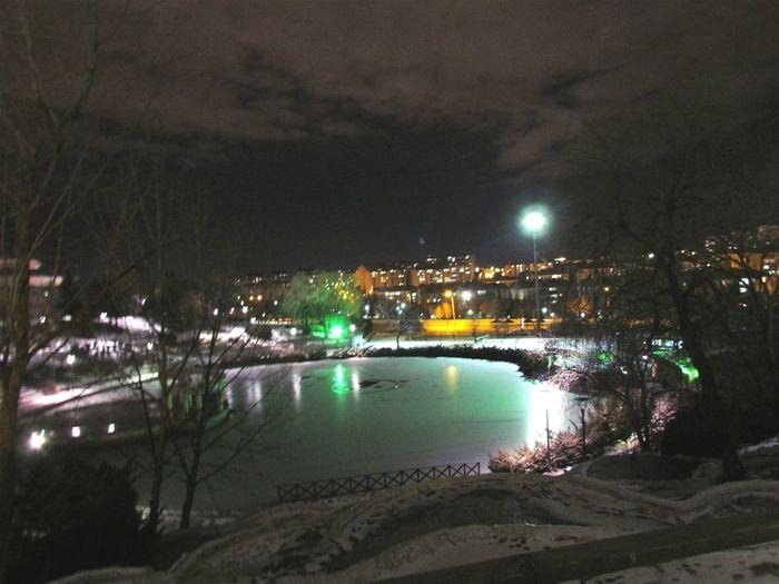 Walking Around Street Photography Nightphotography Cold Winter ❄⛄ Night Lights Nice Atmosphere Canonpowershot ?